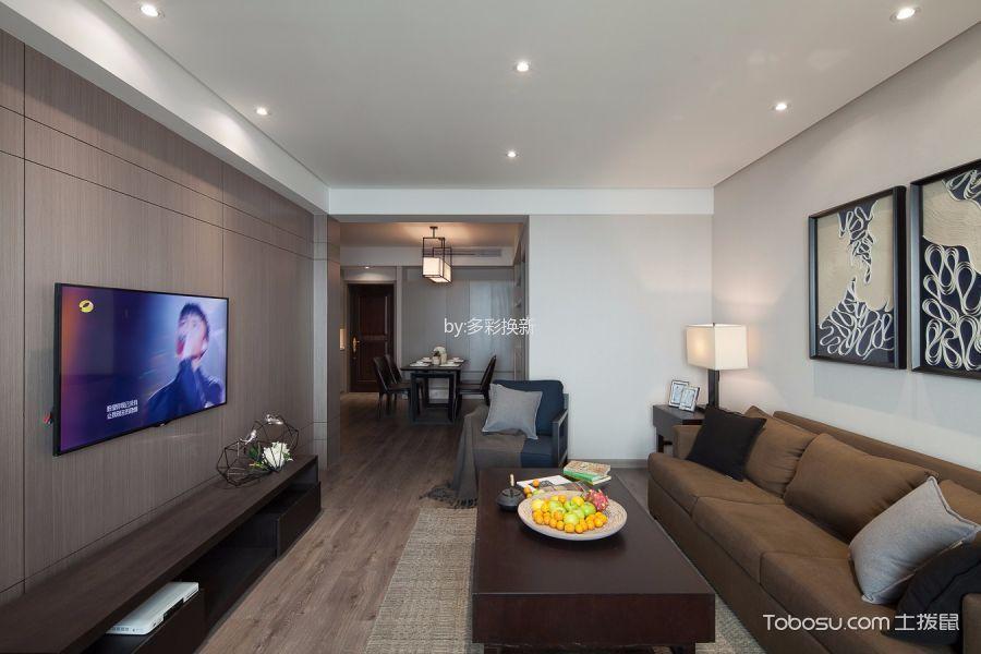 现代简约风格115平米3房2厅房子装饰效果图