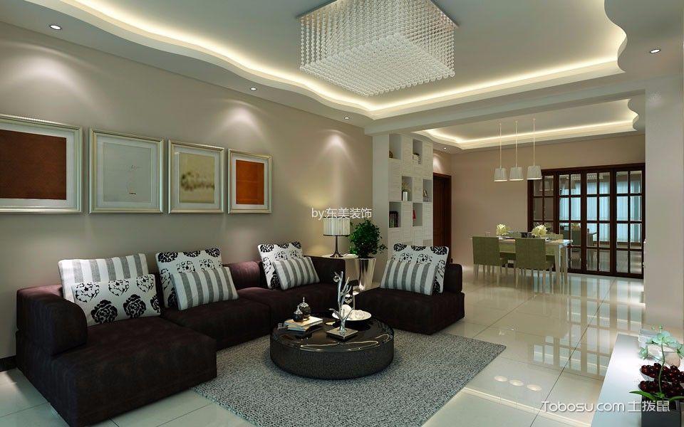 黑色皮质沙发现代风格装修效果图