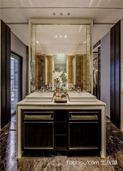 卫生间白色吊顶新中式风格装修图片