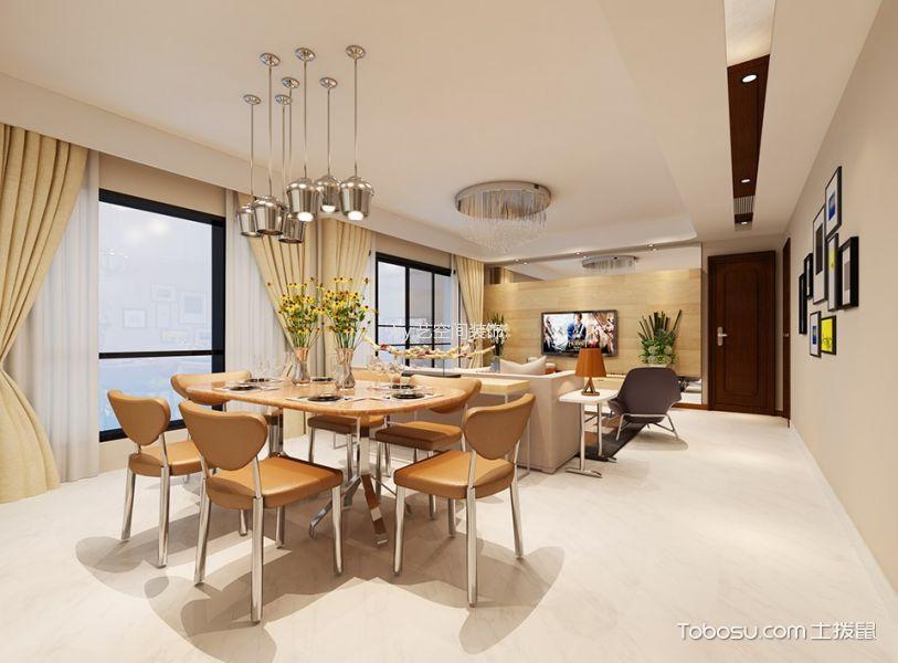 现代简约风格134平米四房两厅新房装修效果图