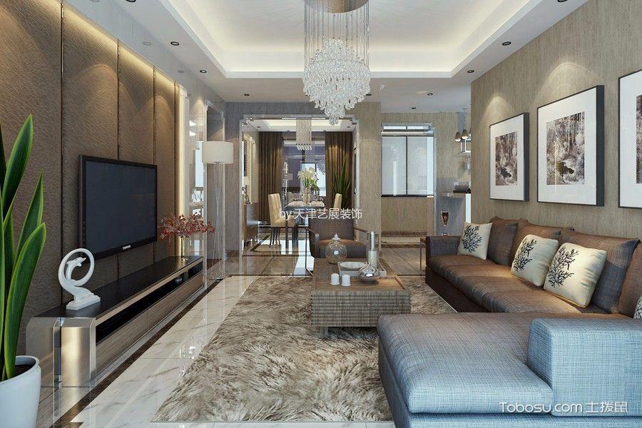 天房美棠120平米现代简约三居室装修效果图