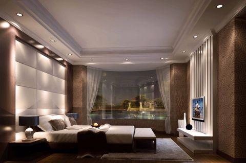 卧室白色窗帘简欧风格装修效果图