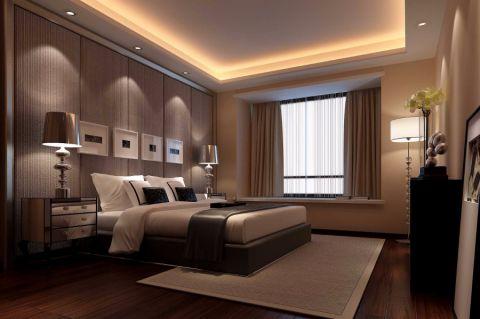 卧室黄色床头柜简欧风格装饰效果图