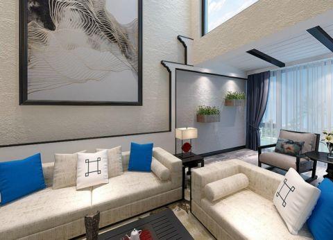 客厅照片墙现代中式风格装修图片