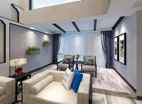 客厅窗帘现代中式风格装饰图片