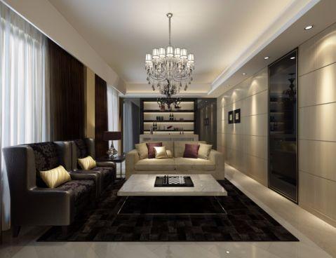 现代简约风格220平米别墅装修效果图