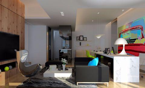 现代简约风格90平米套房装修效果图