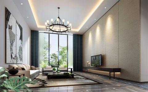 新中式风格300平米别墅装修效果图