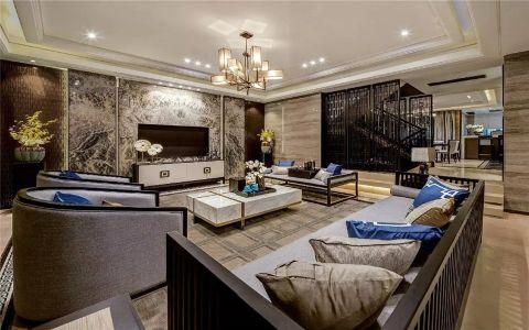 新中式风格160平米四室两厅室内装修效果图