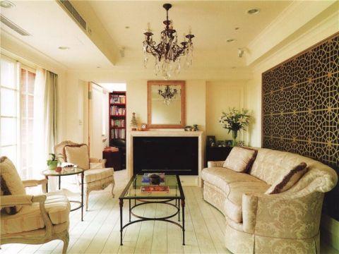 美式风格100平米2房2厅房子装饰效果图