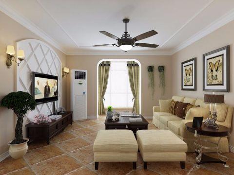 美式风格100平米3房2厅房子装饰效果图