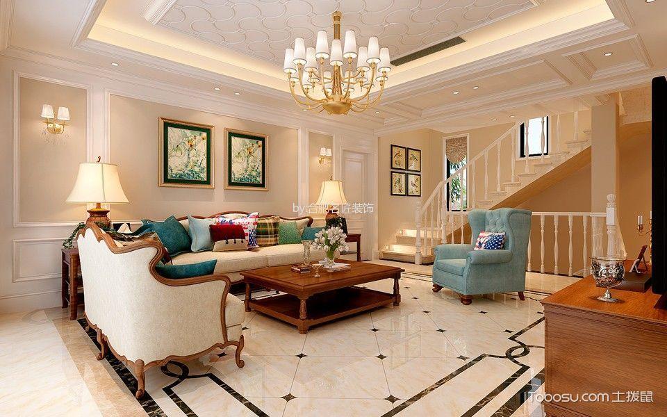 美式风格600平米别墅新房装修效果图