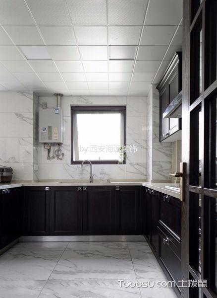 厨房白色吊顶新中式风格装修效果图