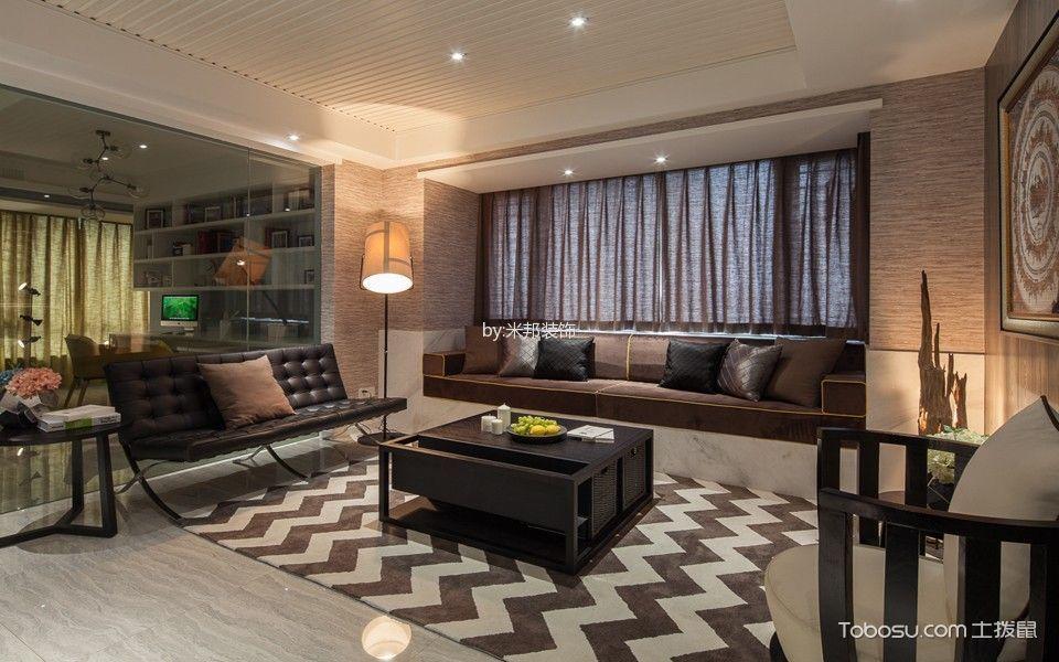北欧风格130平米3房2厅房子装饰效果图