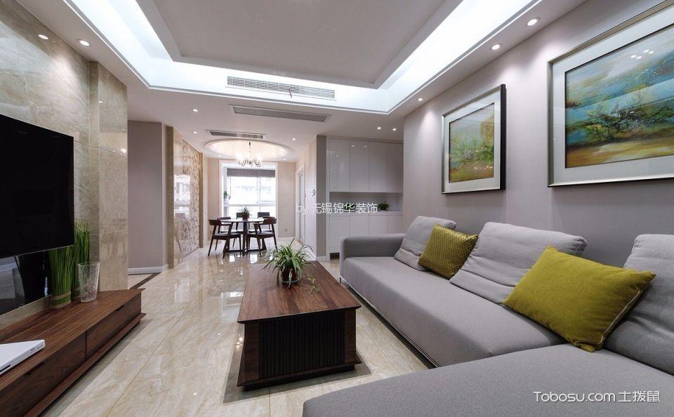 现代简约风格121平米3房2厅房子装饰效果图