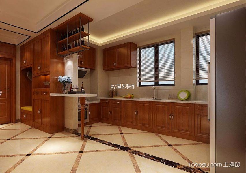 厨房 吧台_新中式风格200平米大户型新房装修效果图图片