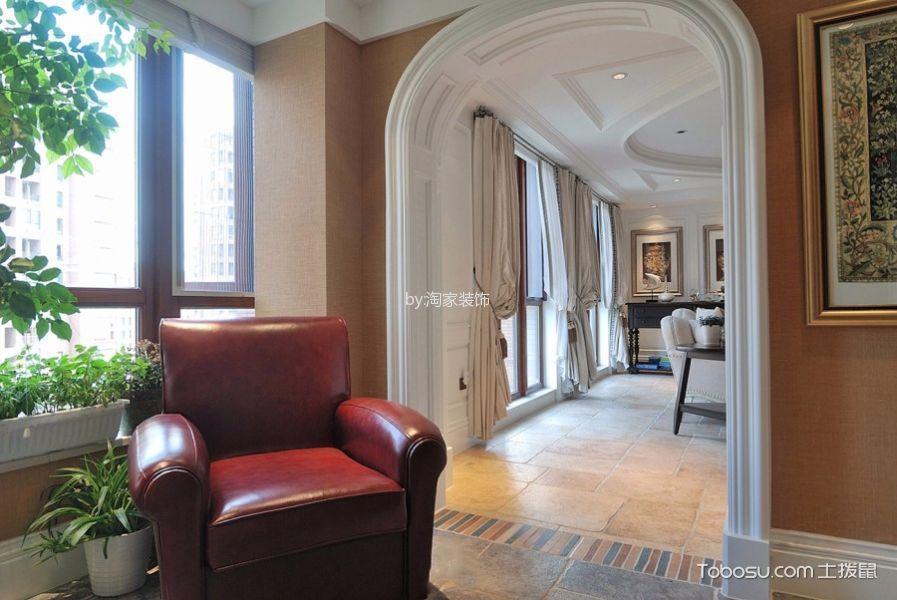 客厅米色走廊北欧风格装潢效果图