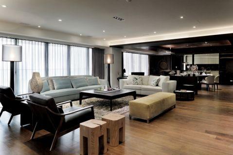 现代简约风格134平米4房2厅房子装饰效果图