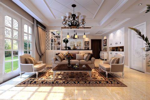 简欧风格150平米4房2厅房子装饰效果图