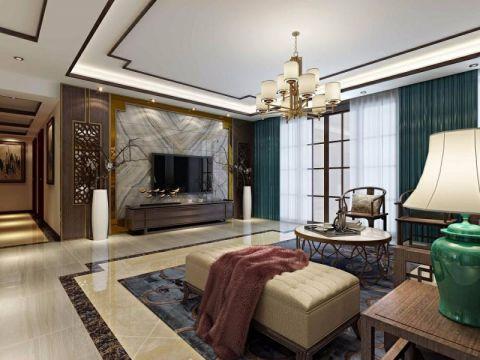 简中式风格170平米三房两厅新房装修效果图