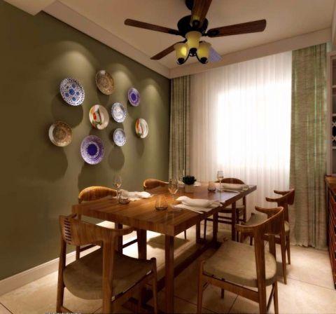 餐厅背景墙美式风格装潢图片