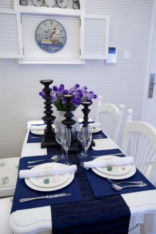 餐厅背景墙地中海风格装潢效果图