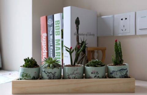 书房背景墙简欧风格效果图