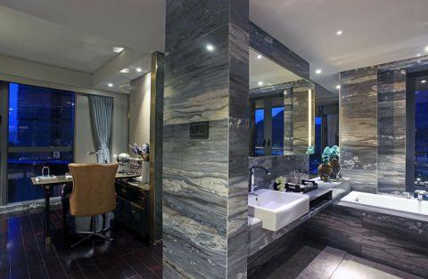 卫生间背景墙简约风格装修设计图片