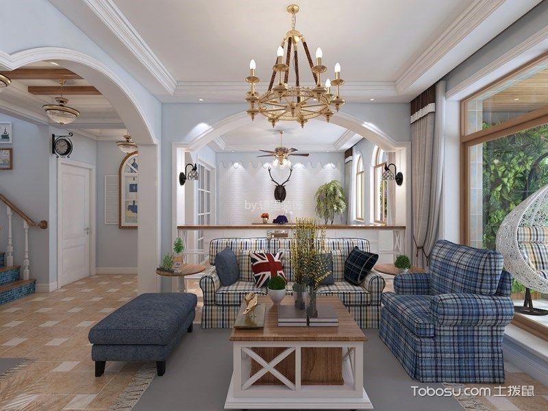 地中海风格250平米复式房子装饰效果图