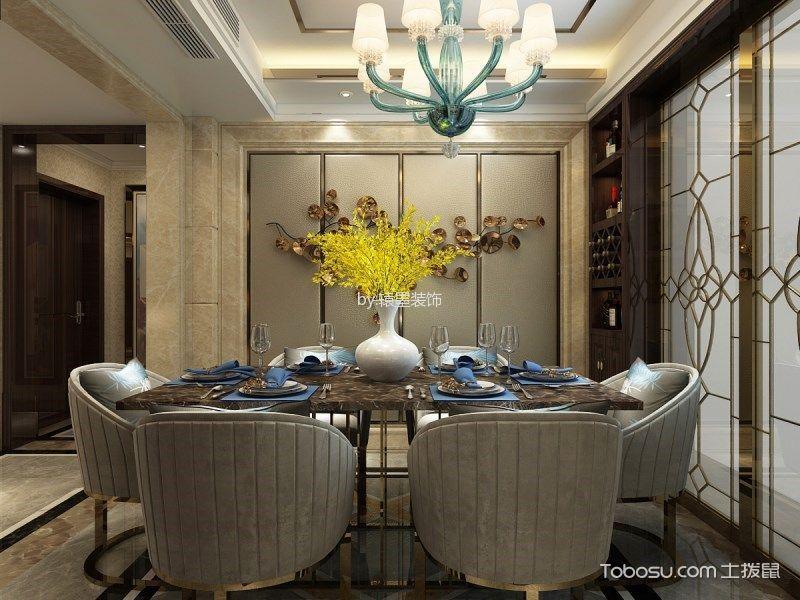 餐厅白色吊顶后现代风格装潢图片
