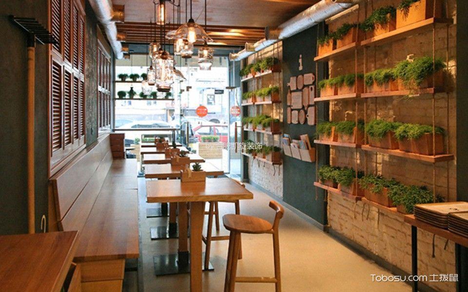 现代风格咖啡厅过道装潢图
