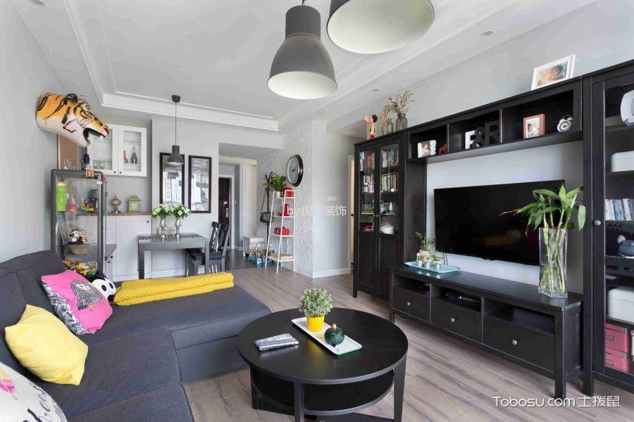 客厅 背景墙_北欧风格110平米三房两厅新房装修效果图