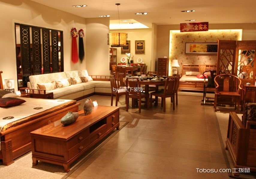 中式风格150平米4房2厅房子装饰效果图