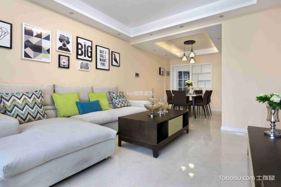 美式风格112平米3房2厅房子装饰效果图