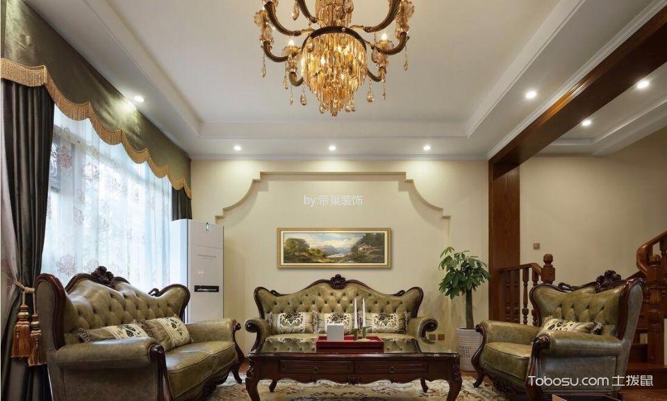 郑州南熙府邸120平米美式风格效果图