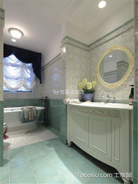 卫生间白色吊顶地中海风格装饰图片