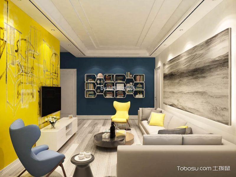 简约风格95平米两房两厅新房装修效果图