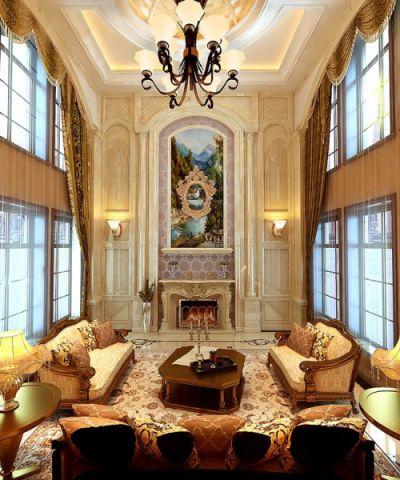 欧式风格350平米别墅室内装修效果图