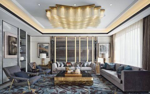 后现代风格220平米三居室别墅装修效果图