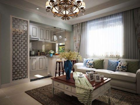 美式风格70平米两室两厅室内装修效果图