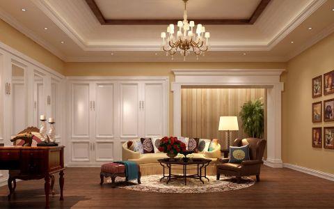 美式风格400平米别墅室内装修效果图