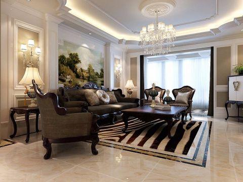 美式风格150平米四室两厅室内装修效果图