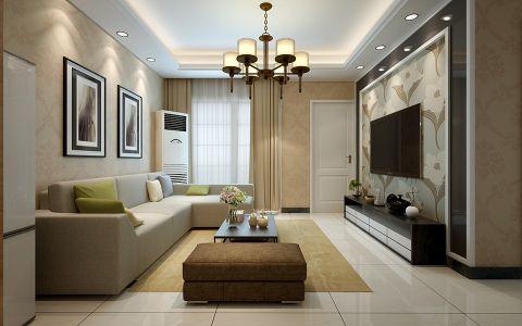 简约风格95平米两室两厅室内装修效果图