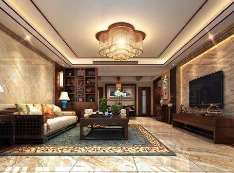 中式风格180平米复式新房装修效果图