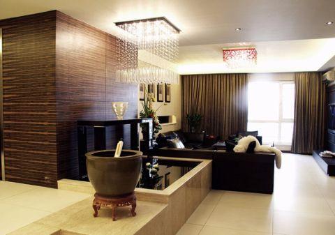 新中式风格100平米三室两厅室内装修效果图