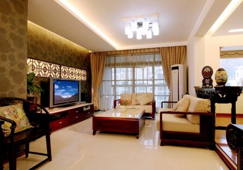 新中式风格140平米4房2厅房子装饰效果图