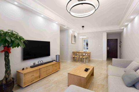 紫东芯座90平二居室装修实景图