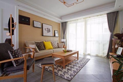 110平日式风格二居室装修效果图