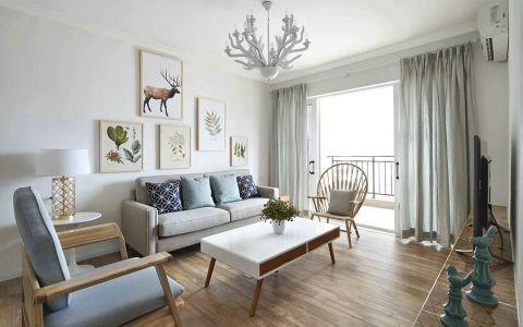 北欧风格80平米两室两厅室内装修效果图