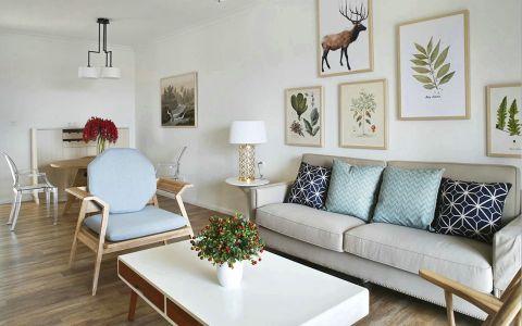 客厅茶几北欧风格效果图